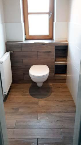 "Gäste WC ""Holz"""
